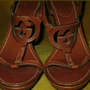 Authentic Gucci wedge sandals